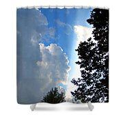 Split Sky Shower Curtain