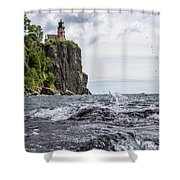 Splitrock Lighthouse 8-4-17 Shower Curtain