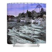 Spokane Pavilion Winter Shower Curtain