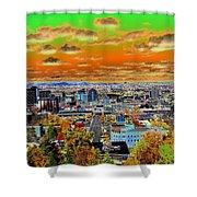 Spokane Washington Earth Shower Curtain