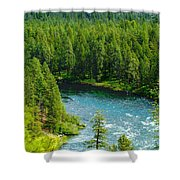 Spokane...the River And The City Shower Curtain