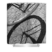 Spoke Shadows Shower Curtain