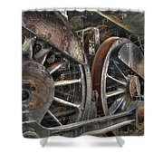 Spokes Of The Past Shower Curtain