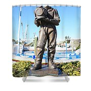 Sponge Diver Memorial Shower Curtain