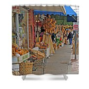 Sponge Market Shower Curtain