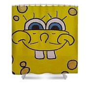 Sponge Square Yellow Brown Pants Cartoon Shower Curtain