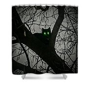 Spooky Cat Shower Curtain