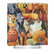 Spooky Harvest Shower Curtain