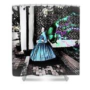 Spooky Historic Butterfly Dahlonega  Shower Curtain