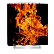 Spooky Hot Spirit Fire Michigan Shower Curtain