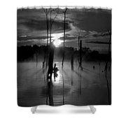 Spooky Sunrise Shower Curtain