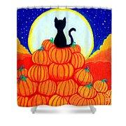 Spooky The Pumpkin King Shower Curtain