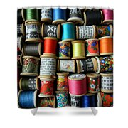 Spools Shower Curtain