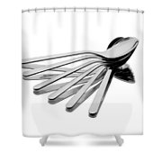 Spoon Fan Shower Curtain