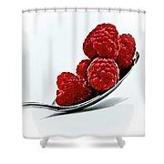 Spoonful Of Raspberries Shower Curtain