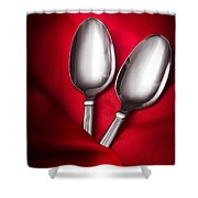 Spooning In Two Course Shower Curtain