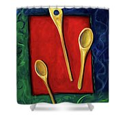 Spoons Shower Curtain