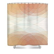 Sport Semi Circle Background Horizontal Shower Curtain
