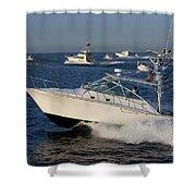 Sportfishing Boats - Cabo San Lucas Shower Curtain