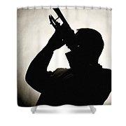 Spotlight Performer Shower Curtain