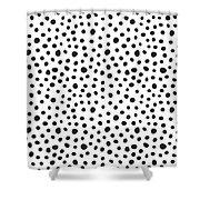 Spots Shower Curtain by Rachel Follett