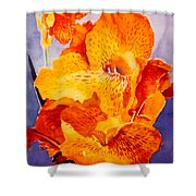 Spotted Canna Shower Curtain by M Diane Bonaparte