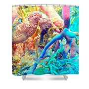 Spotty Seahorse Shower Curtain