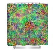 Spoutclustered Shower Curtain