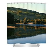 Sprague Lake At Dusk Rocky Mountain National Park Shower Curtain