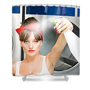 Spray Bottle Cleaner Shower Curtain