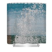 Spray In The Bay Shower Curtain