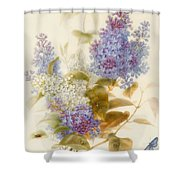 Spray Of Lilac Shower Curtain