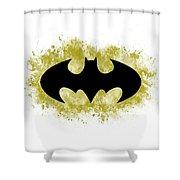 Spray Paint Batman Logo Shower Curtain
