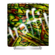 Spray Painted Graffiti Shower Curtain