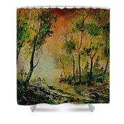 Sprin In Wood 45 Shower Curtain