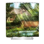 Spring - Garden - The Pool Of Hopes Shower Curtain