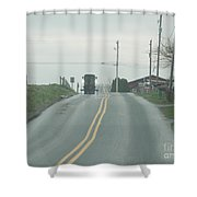 Spring Afternoon Buggy Ride Shower Curtain