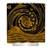 Spring Arrives In Golden Global Style Shower Curtain