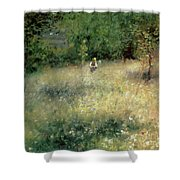 Spring At Chatou Shower Curtain by Pierre Auguste Renoir