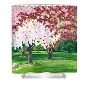 Spring At Osage Land Trust Shower Curtain