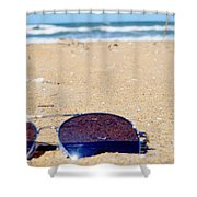 Spring At The Beach Shower Curtain