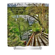 Spring At The Falls Shower Curtain