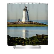 Spring At The Lighthouse Shower Curtain