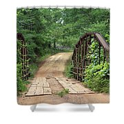 Spring At The Old Bridge Shower Curtain