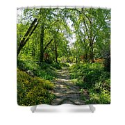 Spring At The Urban Oasis Portrait Shower Curtain