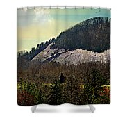 Spring Begins At Glassy Mountain Shower Curtain