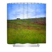 Spring Bench Shower Curtain