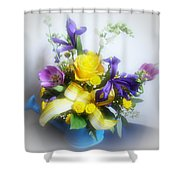 Spring Bouquet Shower Curtain by Sandy Keeton