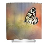 Spring Butterfly Shower Curtain