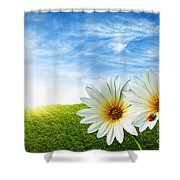 Spring Shower Curtain by Carlos Caetano